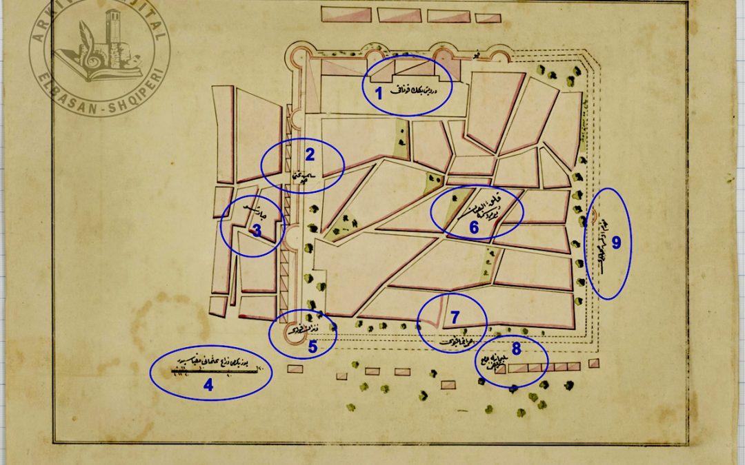 Planimetria e kalasë së Elbasanit nga fondi i ushtrisë osmane